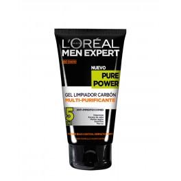Pure Power L'Oréal Men Expert Gel Limpiador Carbón